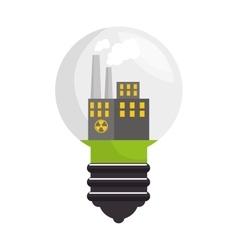 bulb ecology idea isolated icon vector image