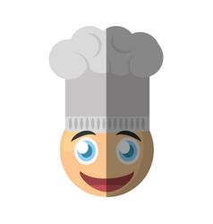 Chef emoticon cartoon design vector