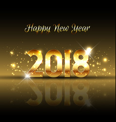 decorative happy new year background with gold vector image