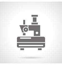 Single-thread sewing machine glyph icon vector