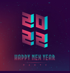 20 22 futuristic design poster for new years vector