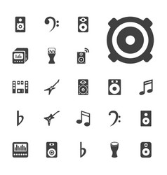 22 bass icons vector