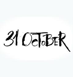 31 oktober lettering for halloween vector