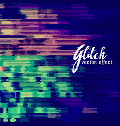 Abstract glitch background with distortion effect vector
