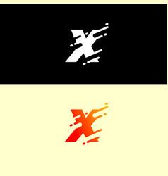 alphabet logo design template dynamic unusual vector image