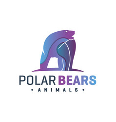 animal bear fur color logo vector image