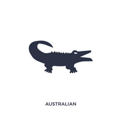 Australian alligator icon on white background vector