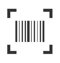barcode scan icon product price reader sticker vector image