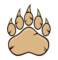 Bear paw with claws vector