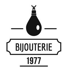 Bijouterie logo simple black style vector