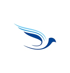 Bird fly abstract aviation logo vector