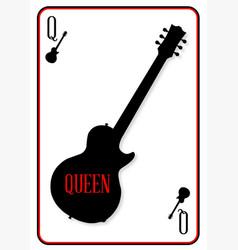 Black solid guitar queen vector
