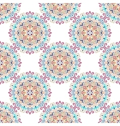 Blue Flower Pattern Round Ornament vector