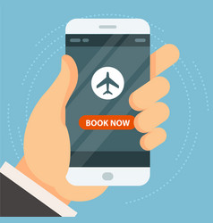 book your flight - airplane ticket booking and vector image