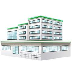 Building design for hospital vector