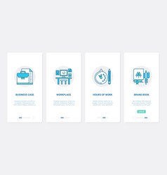 business office workspace and work time ux ui vector image