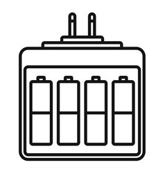 camera battery charger icon outline style vector image