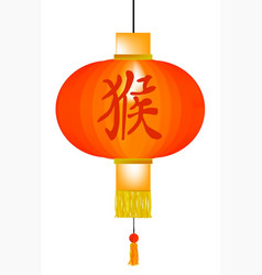 chinese year of the monkey paper lantern vector image