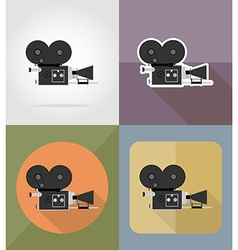 cinema flat icons 03 vector image