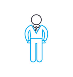 company manager thin line stroke icon vector image