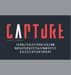 cropped typography set of uppercase letters and vector image