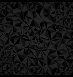dark black abstract triangular background vector image