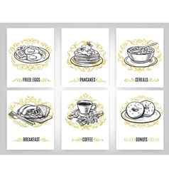 Decorative coffee Design Set vector image vector image