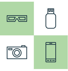Device icons set collection of telephone vector