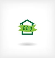 Eco home low-energy houseg icon vector
