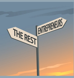 Entrepreneurs and rest indication sign vector