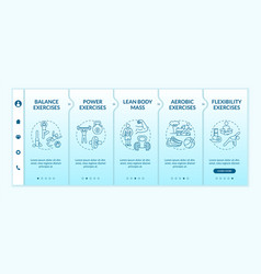 Exercises onboarding template vector