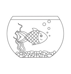 fish for coloring book vector image
