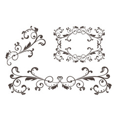 Floral filigree ornament vector