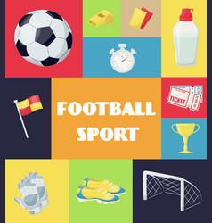football sport equipment soccer ball hobby vector image