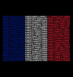 france flag collage of paris text items vector image