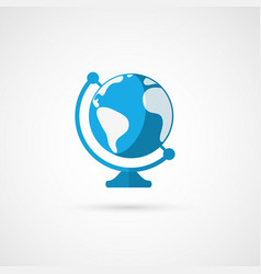 Globe icon geography vector