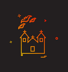 halloween icon design vector image