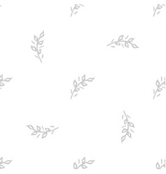 hand drawn brush flowers handmade seamless ornate vector image