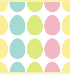 happy easter painting egg painted shell set light vector image