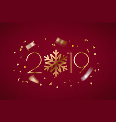 happy new 2019 year greeting card banner with vector image