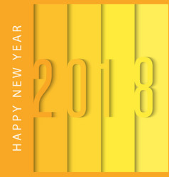 Happy new year 2018 calendar cover design vector