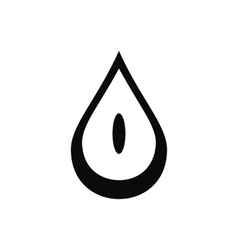 Honey drop black simple icon vector