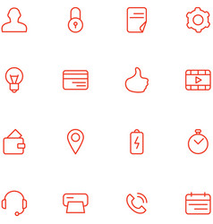 icons set material design style vector image