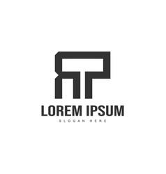 Initial letter logo template minimalist letter vector