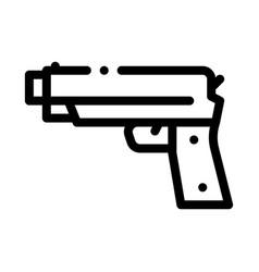 iron shooting gun icon outline vector image
