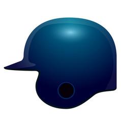 Isolated baseball helmet vector