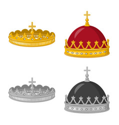 Isolated object medieval and nobility logo set vector