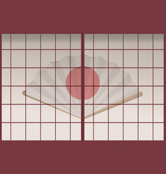japan old door background template vector image