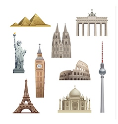 landmarks world vector image