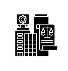 Legal entity black glyph icon vector
